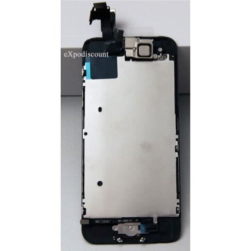 Ecran complet iphone 5c noir assemble sur chassis achat for Photo ecran iphone 5c