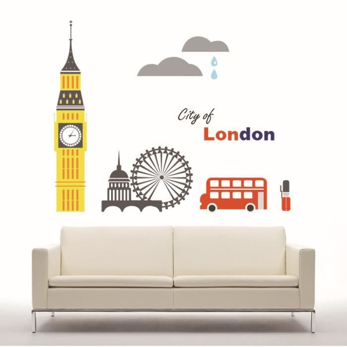 Stickers muraux london achat vente stickers cdiscount - Stickers muraux cdiscount ...