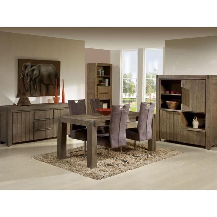 Toronto ensemble s jour avec buffet 180 cm marron for Ensemble sejour complet