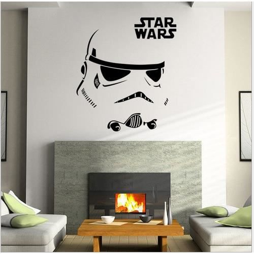 Stickers muraux star wars 12 autocollant amovible maison for Stickers muraux chambre ado garcon