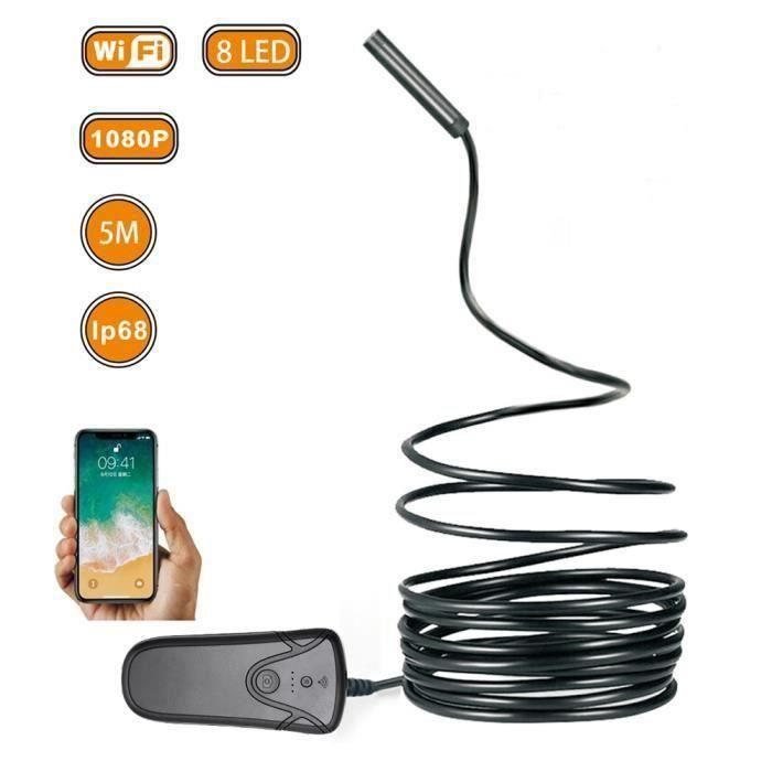 1024 HD USB 3IN1 6LED Caméra d/'inspection endoscope endurante 1m 1280