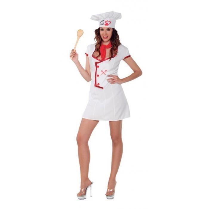 2 pcs Chapeau De Serveur Cuisinier Costume Deguisement Unifrome De Chef
