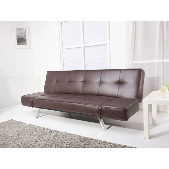 canap convertible canap lit en cuir brun bristol. Black Bedroom Furniture Sets. Home Design Ideas