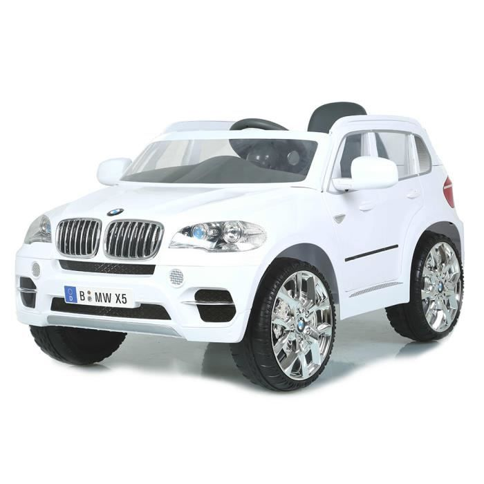bmw x5 4x4 voiture lectrique pour b b blanche achat. Black Bedroom Furniture Sets. Home Design Ideas