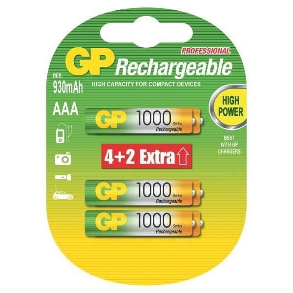 PILES RECHARGEABLES GP X6 AAA Achat / Vente piles PILES