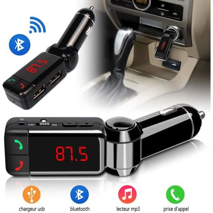 kit main libre voiture bluetooth chargeur usb pour apple iphone 6 achat vente kit bluetooth. Black Bedroom Furniture Sets. Home Design Ideas