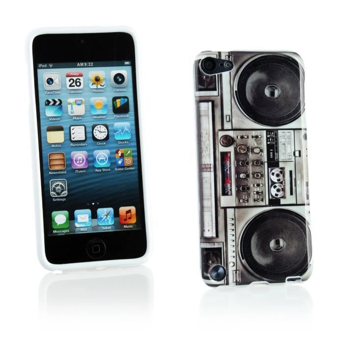 coque gel tpu pour apple ipod touch 5 multicolore imitation radiocassette coque mp3 mp4. Black Bedroom Furniture Sets. Home Design Ideas