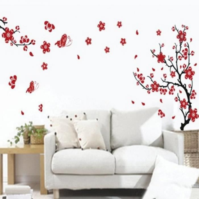 Papillon new peach wall sticker cerisier adh sif prune for Disegni da applicare alle pareti