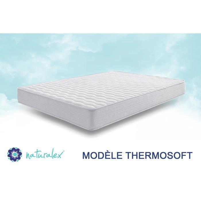 Air Fresh System Syst/ème UHR Blue Latex M/émoire de Forme Thermosoft 17 cm 140 x 190 cm 7 Zones de Confort Ferme NATURALEX Matelas Thermosoft