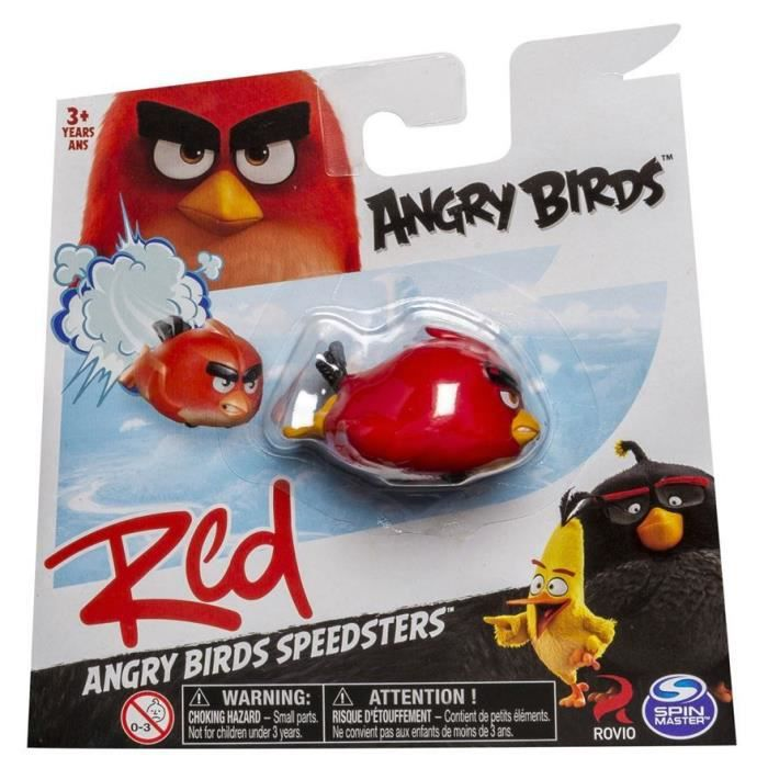 Angry Birds Mission troupeau Pack Rouge /& Argent Figure 2-Pack