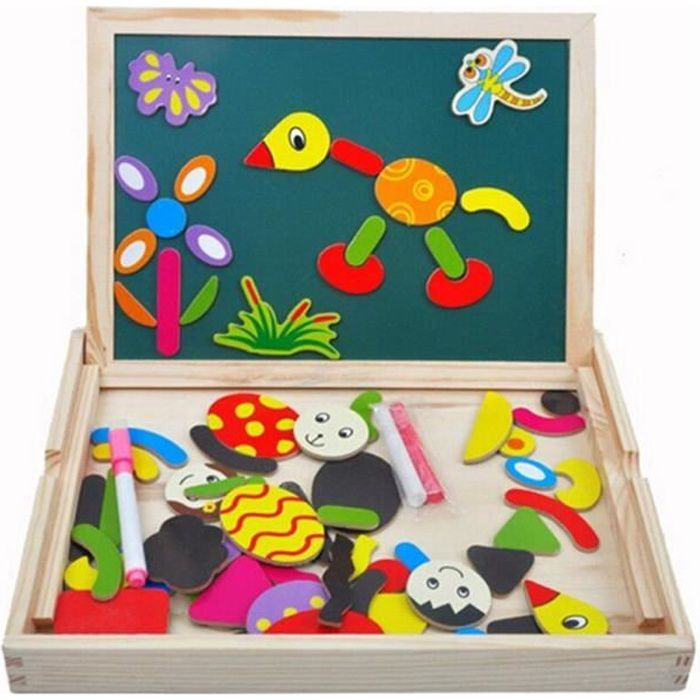 puzzles en bois magn tique jouets educatif avec tableau. Black Bedroom Furniture Sets. Home Design Ideas