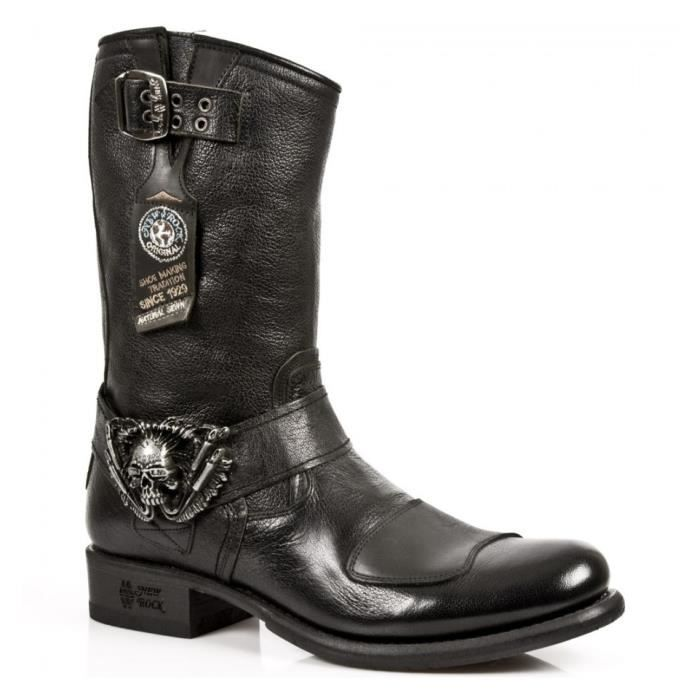 Bottes Urban Noires - All New Rock-M.GY07-S1-40.