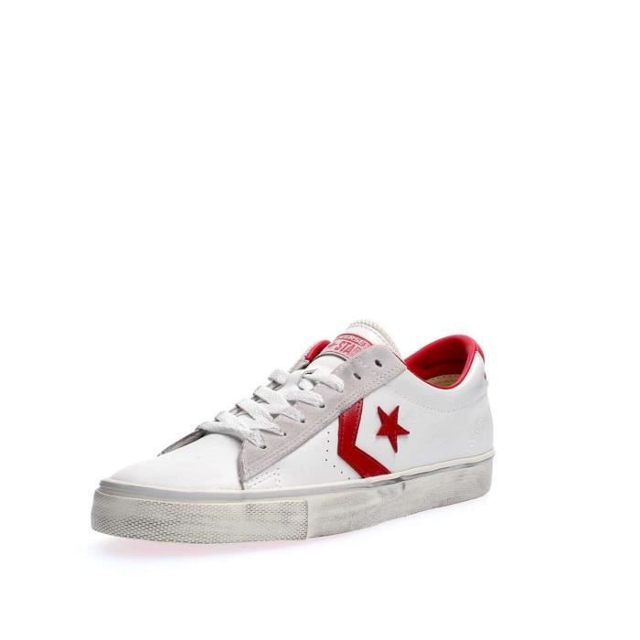 CONVERSE SNEAKERS Homme WHITE RED, 40.5