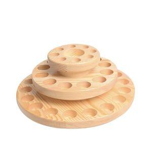 BOITE DE RANGEMENT Boîte ronde en bois pour huile essentielle 39 Gril