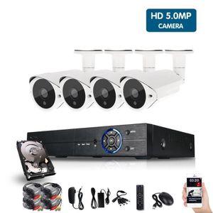 CAMÉRA DE SURVEILLANCE 5MP HDMI 1080 P CCTV Système Enregistreur Vidéo 4