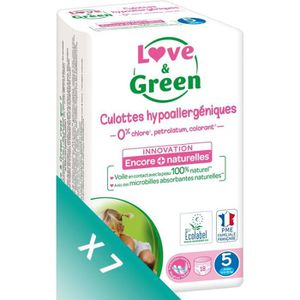 COUCHE LOVE AND GREEN Culottes Pack 1 mois T5 7x18 - 126