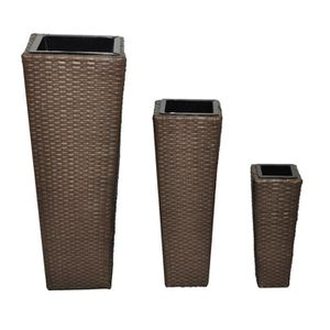 JARDINIÈRE - BAC A FLEUR Cache-Pots de plantes/fleurs (3 vases avec 3 pots