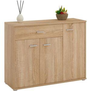 COMMODE DE CHAMBRE Buffet CORALINE, commode meuble de rangement avec