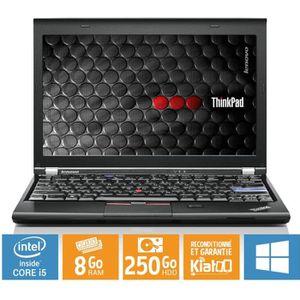 Top achat PC Portable Ultrabook portable LENOVO THINKPAD x220 core i5 8 go ram 250 go disque dur ,ordinateur portable reconditionné,w7 pas cher