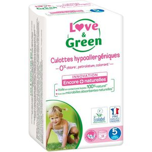COUCHE LOVE AND GREEN Culottes Taille 5 - 18 couches
