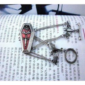 GRAVEUR POUR VERRE Mode bijoux rétro The Vampire Diaries style gothiq