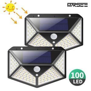 LAMPE DE JARDIN  Lampe Solaire Extérieur 100 led, 2 PCS éclairage S