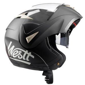 CASQUE MOTO SCOOTER Westt Torque - Casque Moto Modulable Intégral Noir