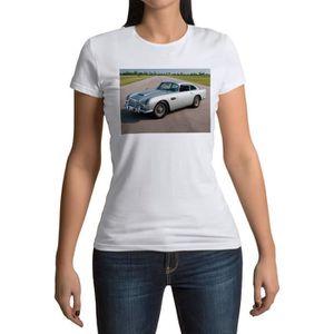 T-SHIRT T-shirt Femme Col Rond Voiture de Sport Ancienne J