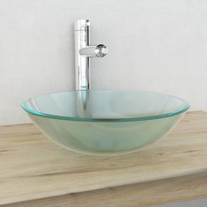 Vasque en verre a poser