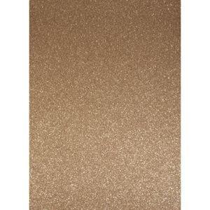 Feuille décopatch Papier cartonné pailleté - A4 - Bronze - Rayher
