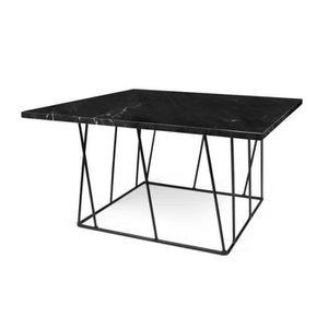 TABLE BASSE Table basse carrée Métal/Marbre noir - CATIONA - L