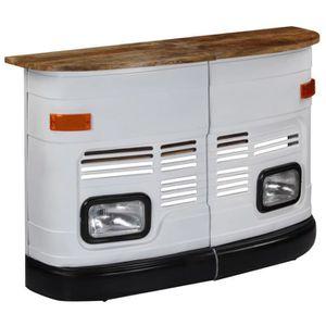 TABOURET DE BAR Table de bar Forme de camion Bois de manguier mass
