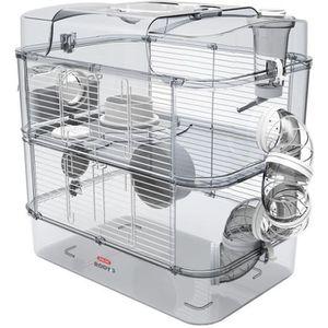 CAGE ZOLUX Cage sur 2 étages pour hamsters, souris et g