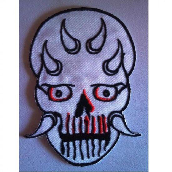 Patch Tête de mort démon  à coudre ou à coller au fer