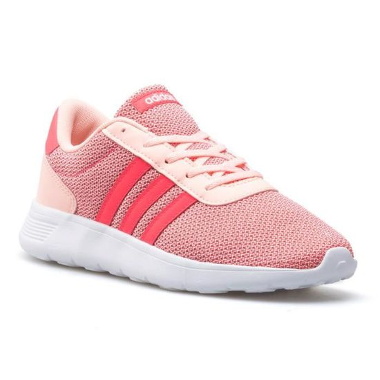 Chaussures Adidas Lite Racer K Rose Rose - Achat / Vente basket