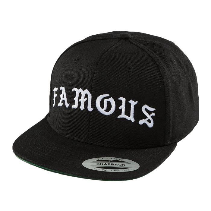 Famous Stars and Straps Homme Casquettes // Casquette Snapback & Strapback Old noir Réglable
