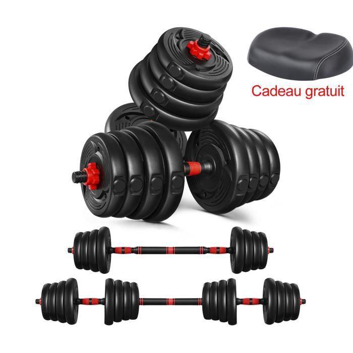 Ensemble d'haltères courtes total 30Kg - entraînement musculaire & haltérophilie