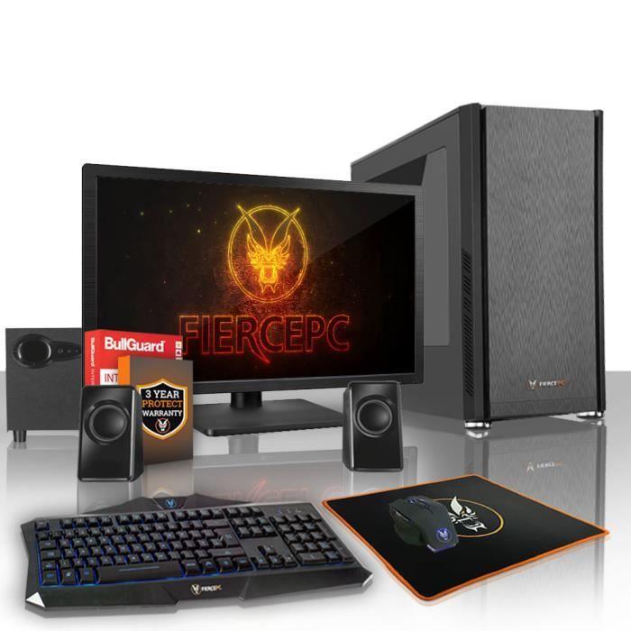 Fierce Exile Pc Gamer de Bureau Amd Ryzen 3 2200G 4X3.7Ghz Cpu, 16Go Ram, Radeon Vega 8, 1To Hdd 406701