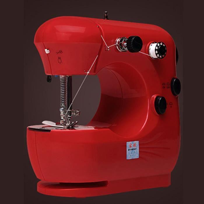 MACHINE A COUDRE,Mini Machine à coudre professionnelle,Tissu épais,Portable,Machine à coudre bleue pour enfants,- Rouge