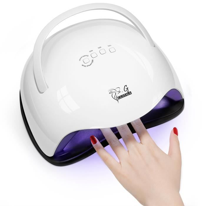 Stock en France Gustala SUN X5 LED UV 48/54W Nail Dryer Gel Polish Lampe de polymérisation intelligente