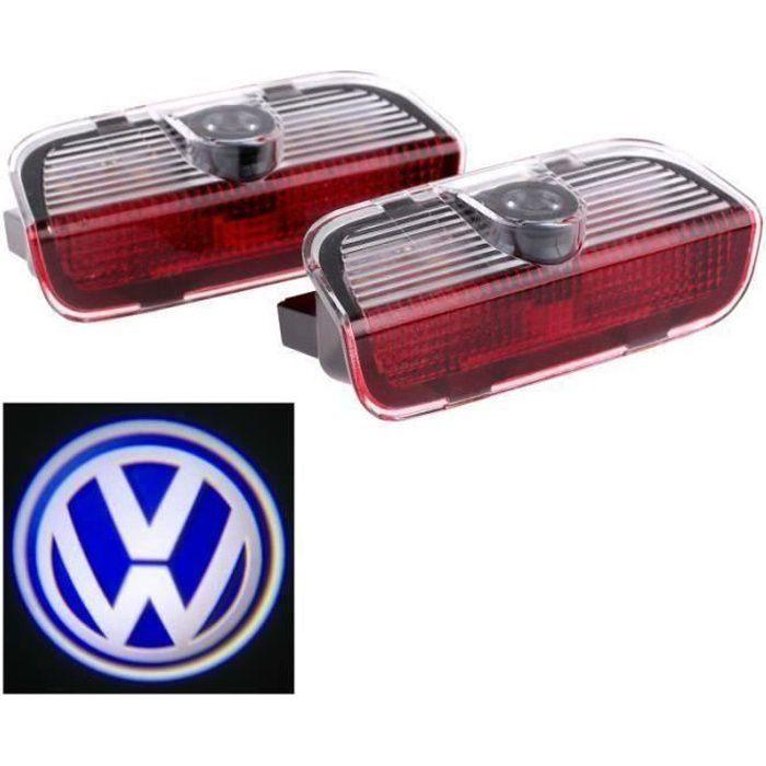 2pcs porte de voiture de LED Voyant bienvenue Logo projecteur Pour VW Passat B6 B7 CC Golf 6 7 Jetta MK5 MK6 Tiguan Scirocco CHR7763