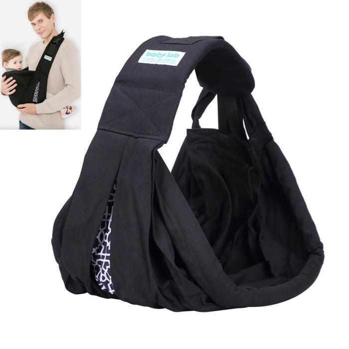 Echarpe de portage avec Boucle de sécurité Echarpe de portage Multifonctionnel Coton - Noir ZS7906