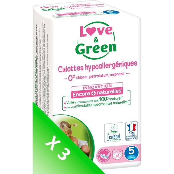 LOVE AND GREEN Culottes T5 - 54 culottes - Eco Pack