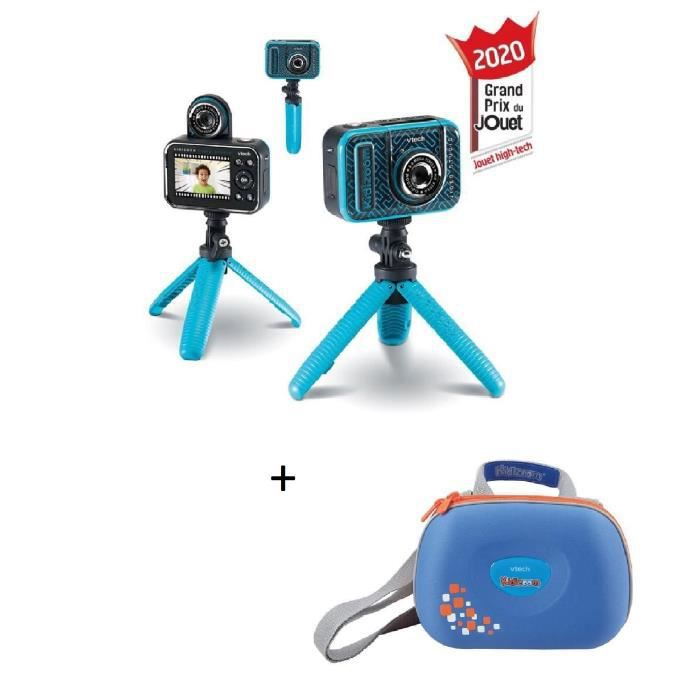 VTECH - Kidizoom Video Studio HD + Sacoche Kidizoom bleue