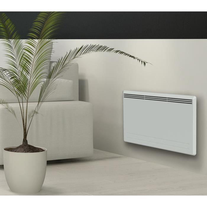 CARRERA New Moala 1500 watts Radiateur électrique à inertie céramique + Film chauffant - Chaleur Douce - Programmation LCD