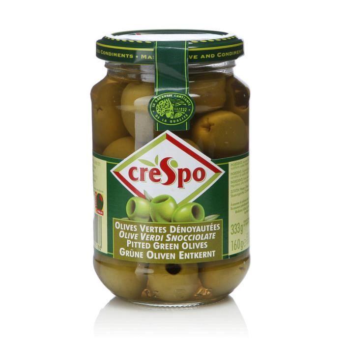 Olives vertes dénoyautées 37 cl Crespo