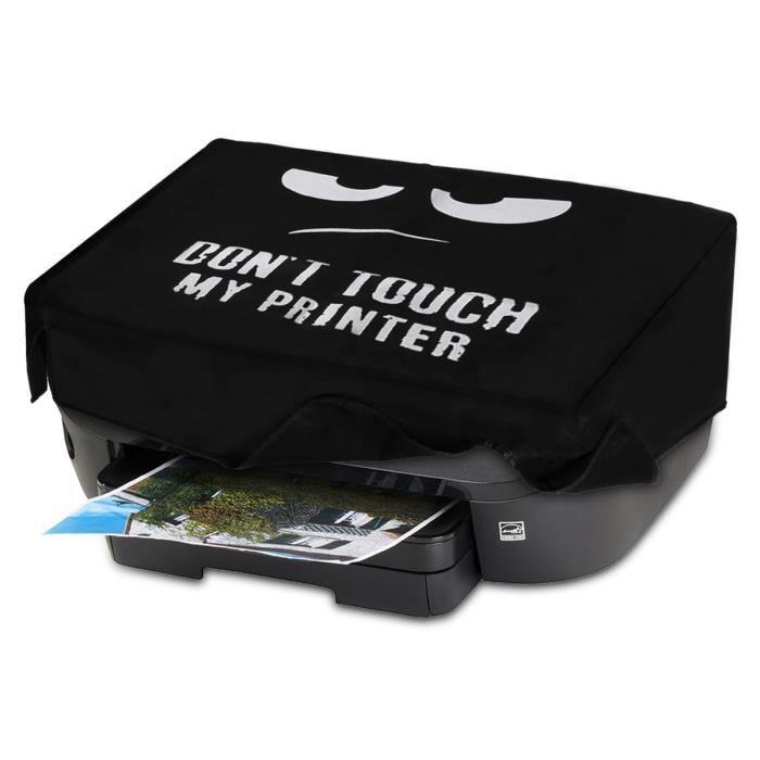 kwmobile Housse HP Envy Photo 6230 / 7130 - Housse de Protection Couverture pour Imprimante HP Envy Photo 6230 / 7130 - blanc-noir