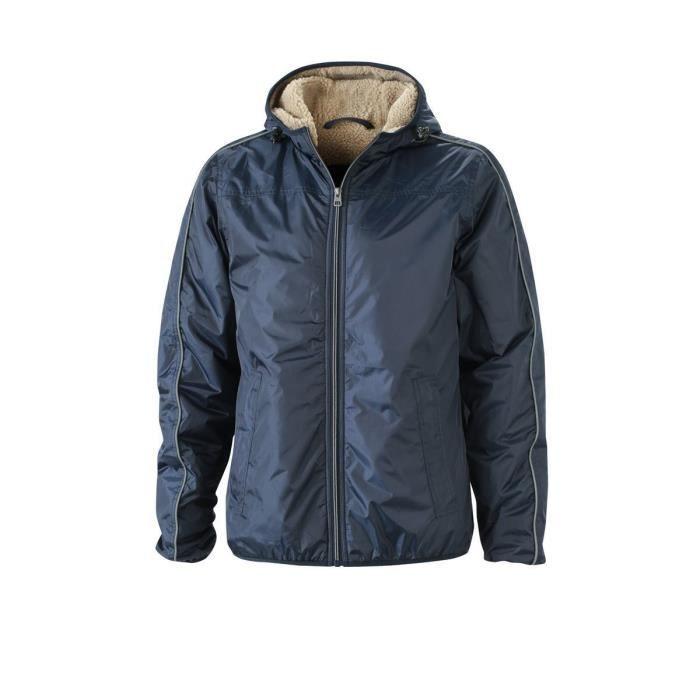 Veste hiver doublée Homme - JN1104 - Bleu marine