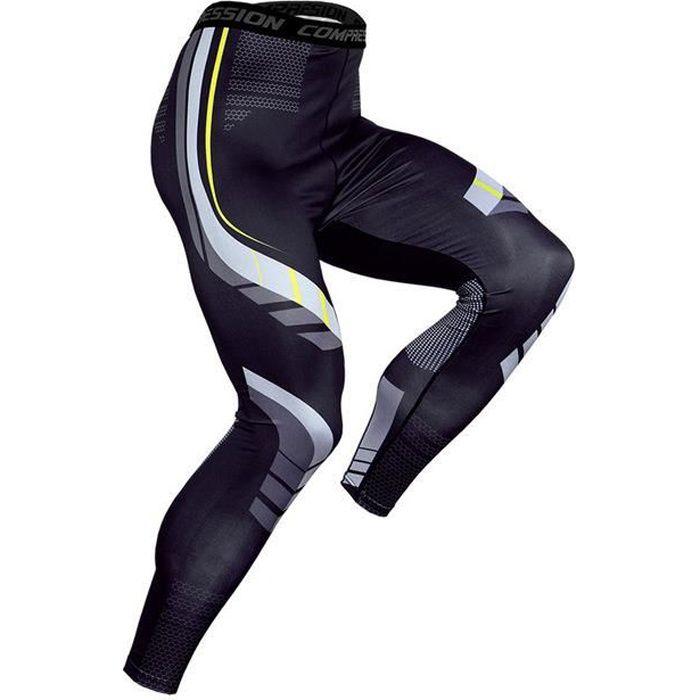 Pantalons de Compression pour hommes à séchage rapide vêtements de Sport collants de course pour hommes