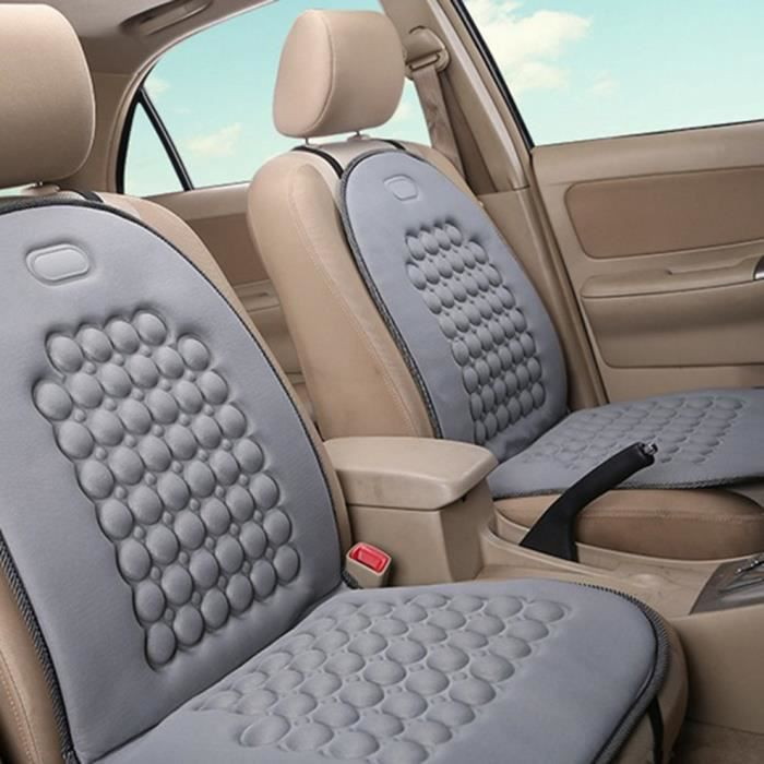 Couvre-siège Housses de siège Siège auto hiver monoplace à carreaux Ball gris uni beaux accessoires #26@